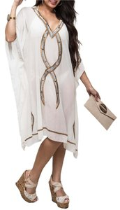 short dress Ivory Caftan Kaftan Studded Beaded on Tradesy