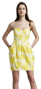Shoshanna short dress Yellow/Ivory on Tradesy