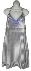 Vineyard Vines short dress Striped Embroidered Halter on Tradesy