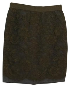 Ann Taylor LOFT Skirt dark green and grey
