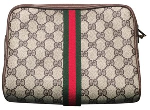 Gucci Beige/brown Clutch
