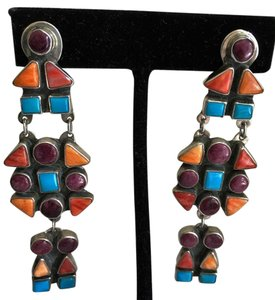 Spirit Winds American Indian Native sterling earrings Spirt Winds L.V.W. stamped