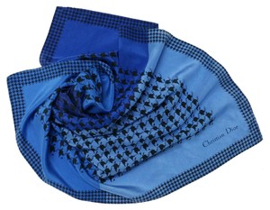 Dior Christian Dior Silk Blues Scarf