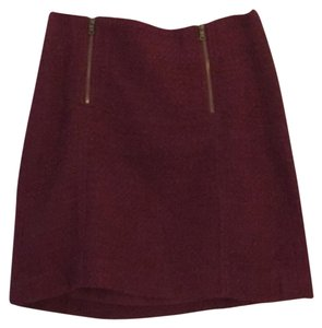 Ann Taylor LOFT Mini Skirt maroon skirt