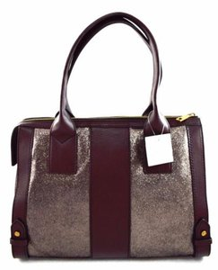 Fossil Leather Gwen Grey Satchel in Pewter