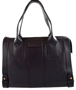 Fossil Leather Gwen Satchel in Black