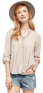 Anthropologie Summer India Top Taupe
