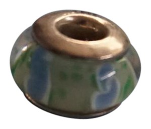 Blue and Green Round Charm