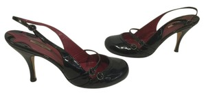 Max Studio Foot Strap Black patent all leather Mary Jane slingback Pumps