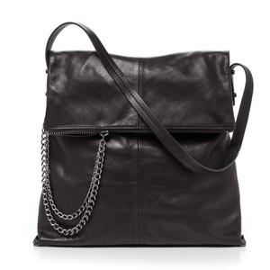Botkier Black Leather Chain Hobo Bag