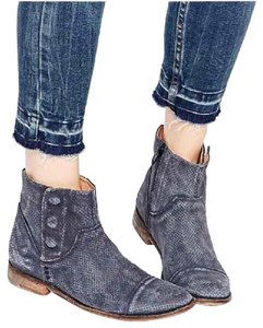 Free People faded blue Boots