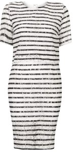 Topshop short dress Navy, White on Tradesy