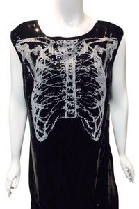 Rodarte Skull Skeleton Sequin Edgy Dress