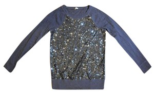 J.Crew Sequin Silver Sweater
