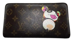 Louis Vuitton Louis Vuitton GM Takashi Murakami Panda Long Zippy Wallet & Box