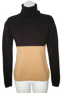 Garnet Hill Turtleneck Cashmere Color-blocking Sweater