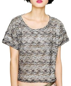 Free People Top black, gold, silver