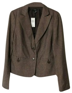 Ann Taylor Lined Business Dressy Brown Blazer