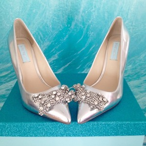Betsey Johnson Chrome/Silver Pumps