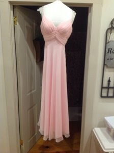 Alyce Paris Ballet Pink Long Chiffon Bridesmaid Dress