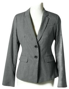 Ann Taylor Business Dressy Suit Lined Gray Blazer