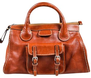 Chlo Satchel in Cognac