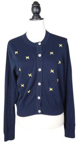 Brooks Brothers Embroidered Knit Sweater Preppy Cardigan