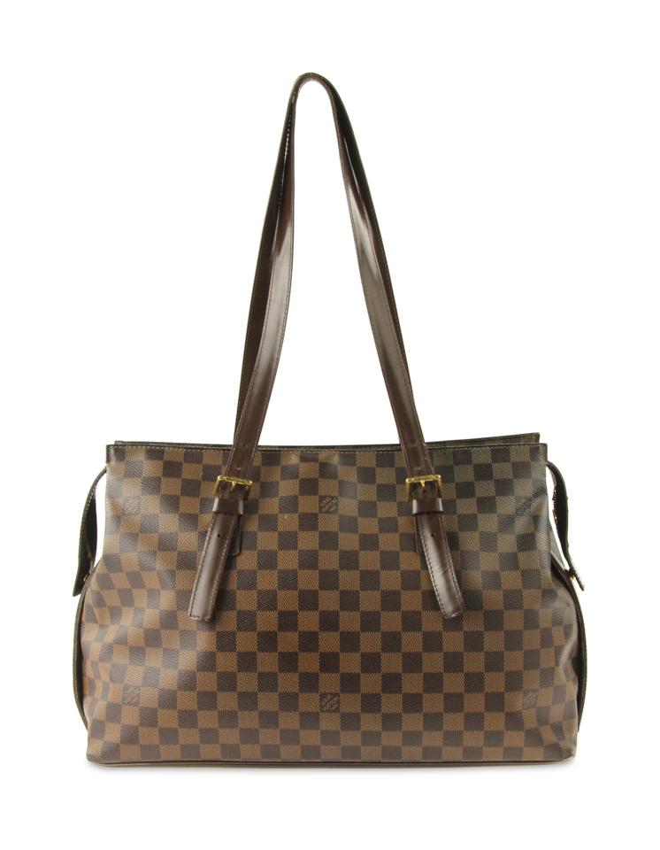 07c656bdb5e2 Louis Vuitton Chelsea Damier Ebene Brown Coated Canvas Tote - Tradesy