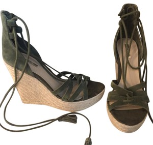 Guess forest green Wedges