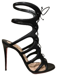 Christian Louboutin Amazoulo Stiletto Leather Lace black Pumps