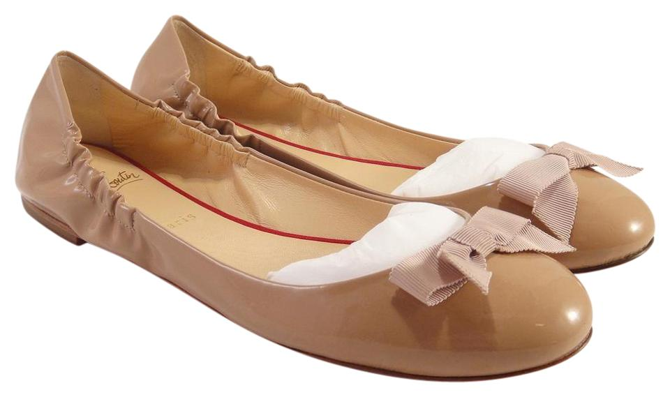 newest 6f2f4 48308 Christian Louboutin Nude Gloriana Bow Ballerina Ballet #955 Flats Size EU  35 (Approx. US 5) Regular (M, B) 13% off retail