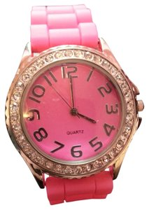 Rue 21 Rue 21 Hot Pink Rhinestone Watch