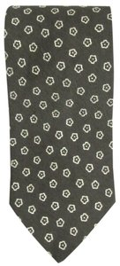 Giorgio Armani New Men's GIORGIO ARMANI Silk Blend Olive Green Abstract Necktie