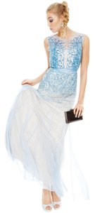 Adrianna Papell Beaded Gown Illusion Dress