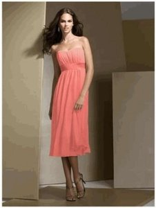 Dessy Coral / Ginger Dessy Bridesmaid Style 2721 Dress