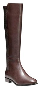 Cole Haan Equestrian Grand Os Stretch Knee-high Riding Brown Boots