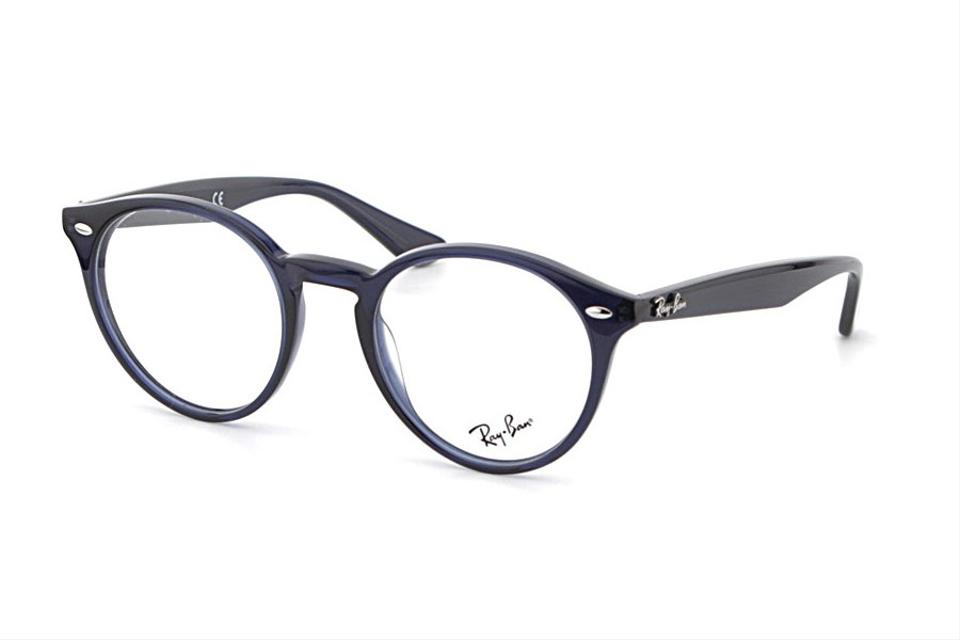 ray ban new ray ban rb 2180v round circle navy logo eyeglasses frames