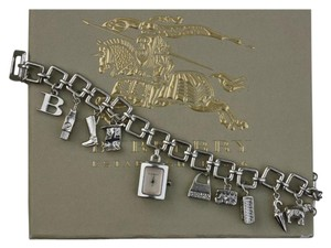 Burberry Burberry Sterling silver charm bracelet with watch charm