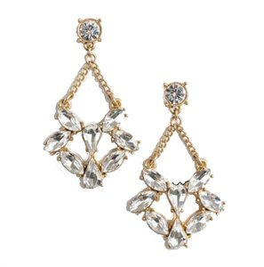 J.Crew Mini-Crystal Dangle Earrings
