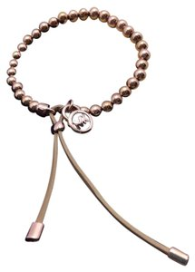 Michael Kors Michael Kors ROSE Gold-Tone Beaded Leather Bracelet NWT MKJ1155791