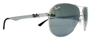 Ray-Ban RAY BAN CARBON FIBER RB8313 003/40 SILVER/GREY MIRRORED 58mm NEW