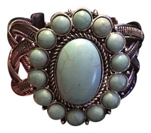 Other Western Style Turquoise and Silver Cuff Bracelet