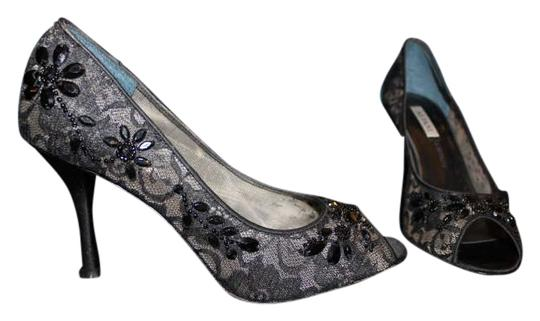 Alfani Beading Lace Pump Black Formal