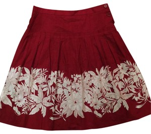 BCBGMAXAZRIA Skirt red and white
