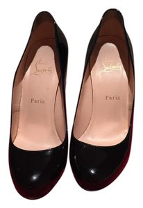Christian Louboutin Ron Ron Black Patent Pumps