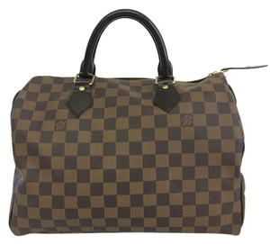 Louis Vuitton Lv Damier Canvas Speedy 30 Tote in brown