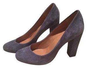 J.Crew Chunky Heel Business Gray Blue Pumps