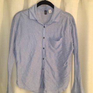 BDG Outdoorsy Shirt Button Up Urban Outfitters Button Down Shirt Chambray Blue