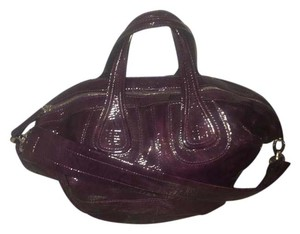 Givenchy Patent Leather Tote in Deep Purple