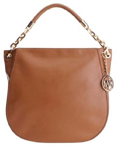 Michael Kors Stanthorpe Leather Gold Tone Hardware Shoulder Bag